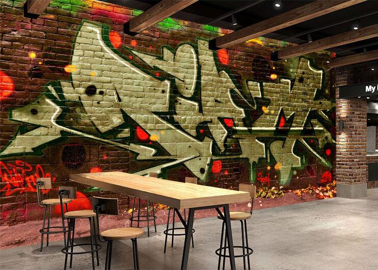 3D Graffiti 948 Parete Murale Foto Carta da parati immagine sfondo muro stampa