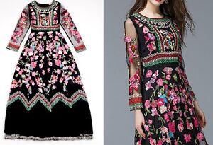 Vestito-Lungo-Donna-Fiori-Ricamati-Woman-Maxi-Dress-Embroidered-Flowers-OB14268B