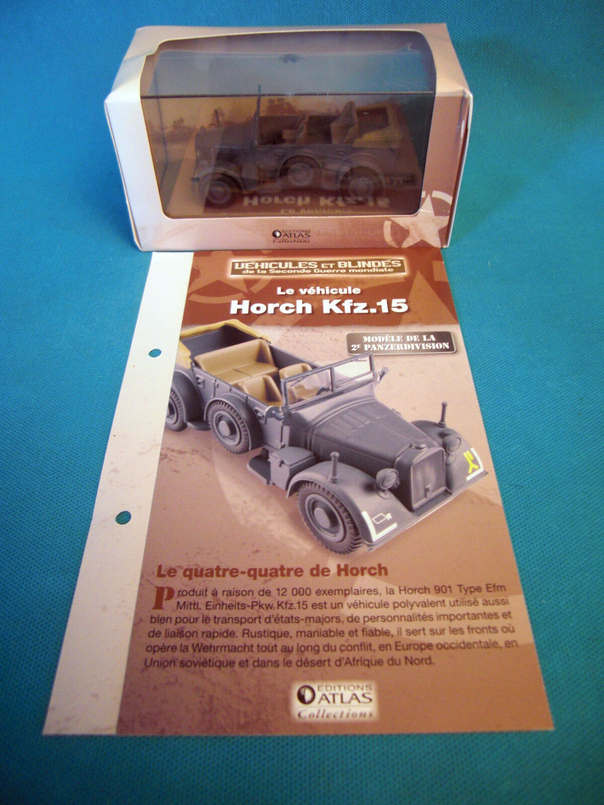 Vehicles and Tanks Horch KFZ.15 Edition Atlas 1 43