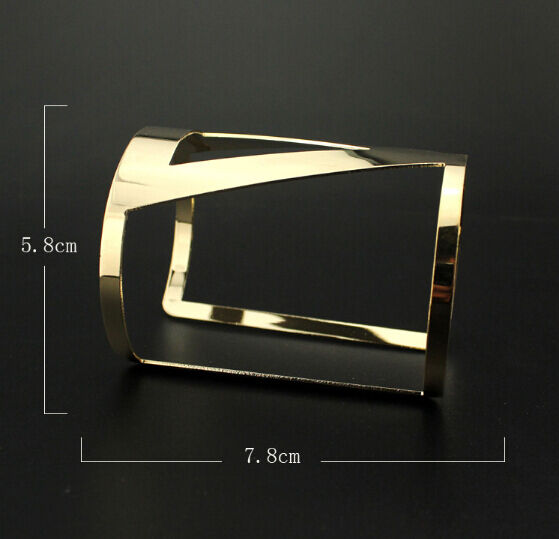 Fashion Design Gold Plated Geometry Hollow Out Metals Bracelet Cuff Bangles New