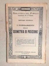 I FONDAMENTI DELLA GEOMETRIA DI POSIZIONE UCCELLI PRIMI DEL '900