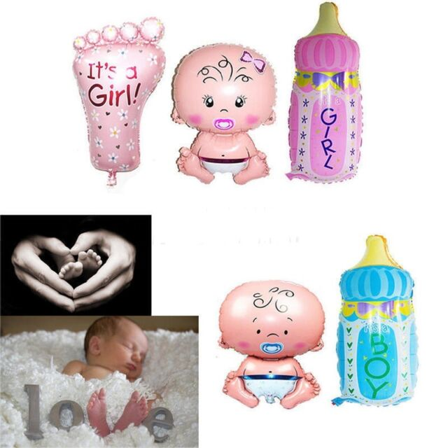 Girl Newborn Baby Beauty Shower Foil Balloon Baby Birthday Party Decoration SP