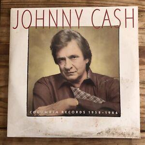 JOHNNY CASH COLUMBIA RECORDS 1958-1986 VINYL LP PROMO ALBUM