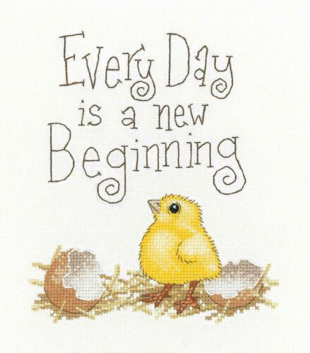 HERITAGE CRAFTS A NEW BEGINNING COUNTED CROSS STITCH KIT BY PETER UNDERHILL NEW