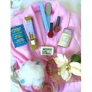 Image is loading 8pc-Spa-Gift-Set-w-Robe-Vanilla-Lavender- 19918f359