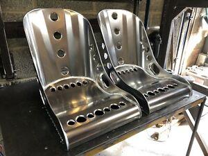 Aluminium-Bucket-Seat-Low-Top-Bomber-Seat-x2-Hot-Rod-VW-Mini-Classic-Race