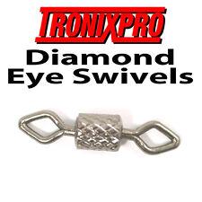 TRONIX DIAMOND EYE ROLLING BARREL SWIVELS SIZE 12 x 100 MAX PACK