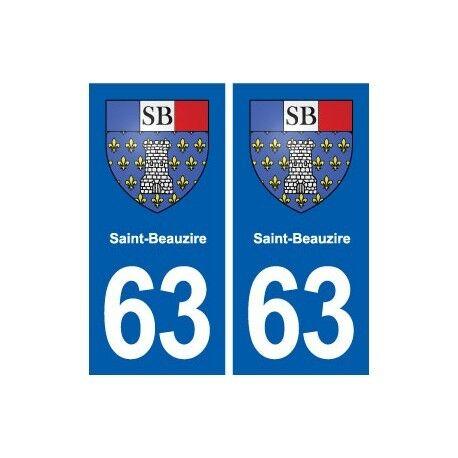 63 Saint-Beauzire blason autocollant plaque stickers ville droits