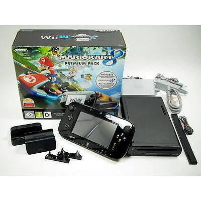 Nintendo Wii U Konsole Premium Pack Mario Kart 8, 32GB + Originalverpackung~7880