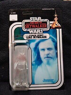 Rise Of Skywalker Inspired Custom Made 3 75 Kenner Style Figurine Ghost Luke Ebay