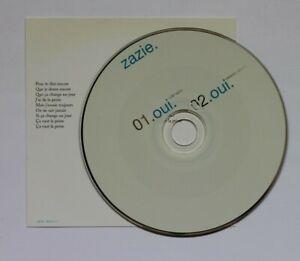 ZAZIE-OUI-RADIO-MIX-Promo-CD-Single