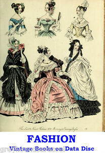 Fashion-1800s-to-1920-039-s-Collection-Vintage-Books-on-Data-Disc-Colour-Plates
