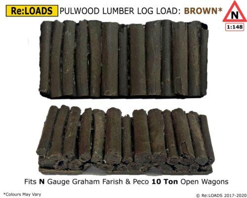 Pulpwood Logs Wood Lumber Timber Load fits Peco Farish N Gauge 10 Ton Open Wagon