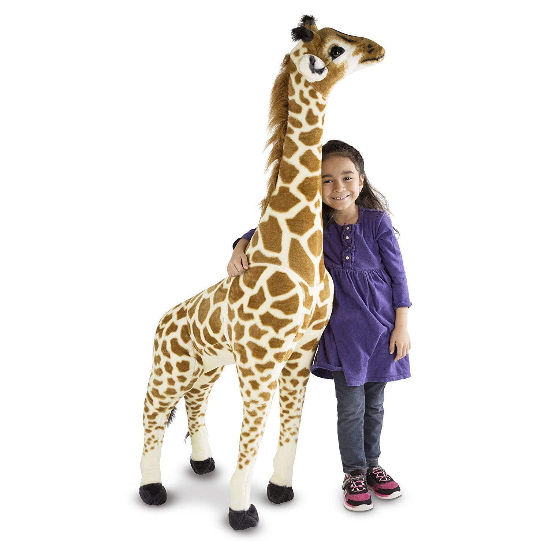 Fast Shipping  {NEW} Melissa & Doug JUMBO Stuffed Giraffe 4ft tall+ Valentines