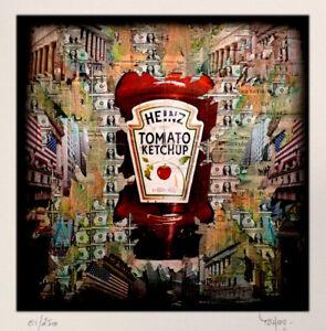 TABLEAU ART CONTEMPORAIN Heinz Tomato... Reproduction TEHOS Serie limitee 250 ex