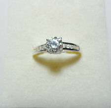 925 St Silver ring, made with Swarovski crystals, size 'R' US 8.5