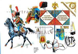 CHASSEURS A CHEVAL 23e REGIMENT TROMPETTES 1807-1808. LE PLUMET PLANCHE 219