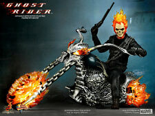 HOT TOYS 1/6 GHOST RIDER MMS133 JOHNNY BLAZE & HELL CYCLE MASTERPIECE FIGURE