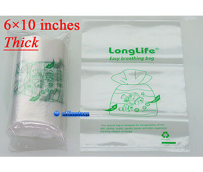 100 pcs - LongLife Aquarium Breathing Bags (15x25cm) ~Kordon breather Substitute