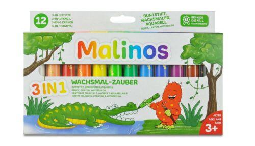 Malinos Wachsmal-Zauber Wachsmalstifte 3in1 12er Set