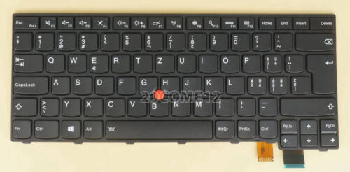 NEW for Lenovo Thinkpad T460P T470P keyboard backlit Swiss Tastatur Schweizer SW