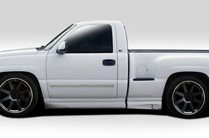 Details About 99 06 Chevrolet Silverado Regular Cab Fleetside Stepside Bt 1 Side Skirt 112125