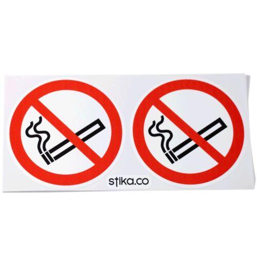 10-pack no smoking signe autocollants 75mm auto-adhésif vinyle voiture taxi bus dashboard