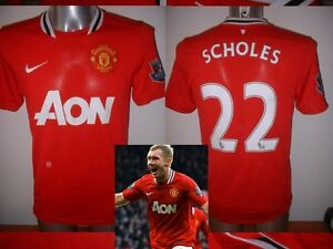 774be9d9107 Image is loading Manchester-United-BNWT-Nike-SCHOLES-Jersey-Shirt-Adult-