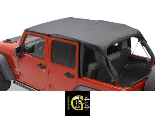 Header Top Del Bikini Safari Versione Nero Copertura Jeep Wrangler Jk 10-14