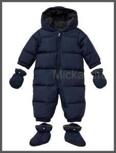 24209f596 BABY GAP NWT Winter Warmest Down Puffer Snowsuit Size 0-6 Months ...