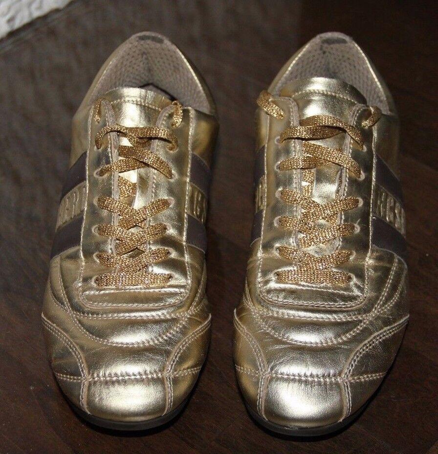 original BIKKEMBERGS Soccer 106 W Lame Platinum Gold Gr 37 38 Turnschuhe Turnschuhe