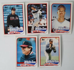 Details About 1989 Topps Traded Chicago White Sox Team Set Of 5 Baseball Cards