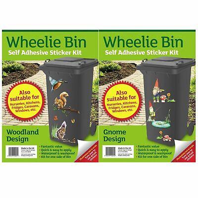 Wheelie Bin Stickers Woodland