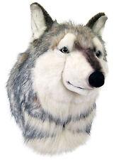 PLÜSCHTIER TROPHÄE TIERKOPF WOLF - XL - NEU - Wolfskopf Plüschtrophäe Plüsch