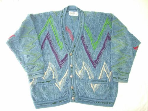 Coogi sweater - men's large multi color cardigan