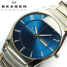 SKAGEN MEN'S ULTRA SLIM LUXURY DRESS STYLE BLUE  DIAL WATCH SKW6033