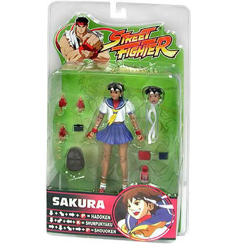 STREETFIGHTER 15th Anniversary Series 3  SAKURA 14cm PVC action-figure Sota
