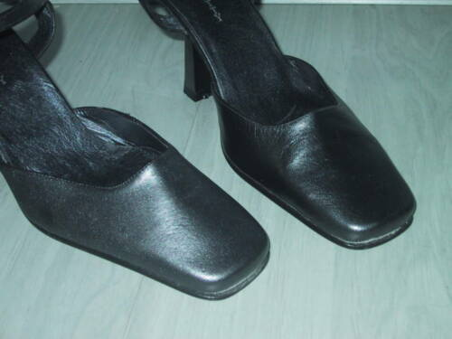 Designer Pumps Anthrazit Neu Perlato Leder 36 Heel Slingback High In Gr rwq1Fr