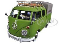 Volkswagen Type 2 (t1) Delivery Pickup Truck Green 1:24 By Motormax 79554