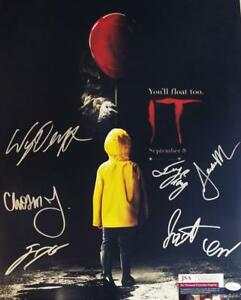 IT-7X-CAST-signed-16x20-Poster-Finn-Wolfhard-Wyatt-Oleff-JSA-COA-433-479