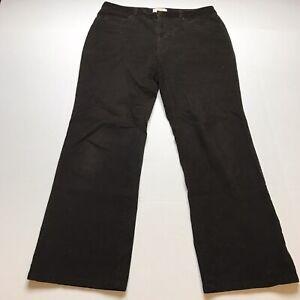 Talbots-Size-10P-Brown-Corduroy-Bootcut-Pants-A1660