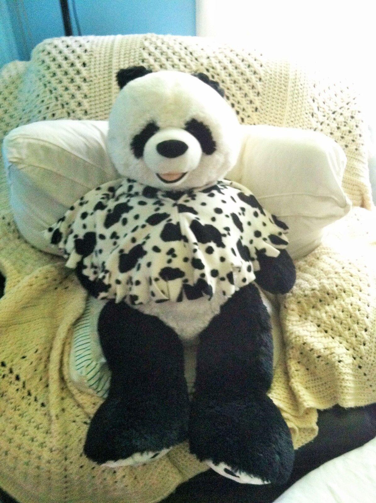 LARGE JUMBO HUGE Panda Bear Stuffed Animal Plush Sitting Toy Hugfun 35