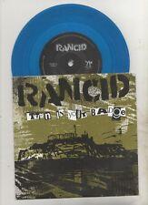 "rancid - turn in your badge  rare blue vinyl 7"""
