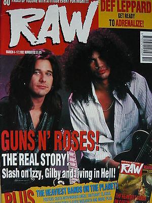 RAW MAGAZINE 92 - GUNS N' ROSES - DEF LEPPARD - PANTERA