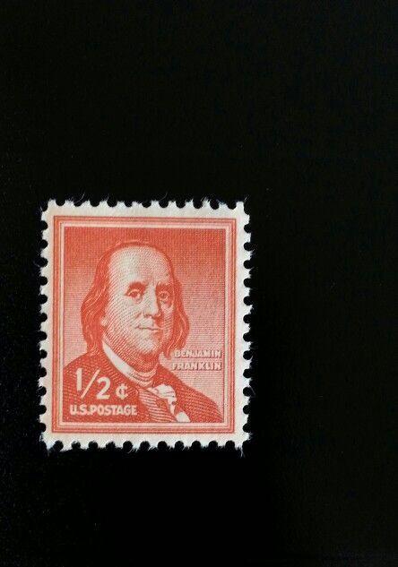 1958 1/2c Benjamin Franklin, Founding Father Scott 1030