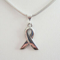 Ribbon Silver-plated Pendant Charm And Necklace- Free Shipping