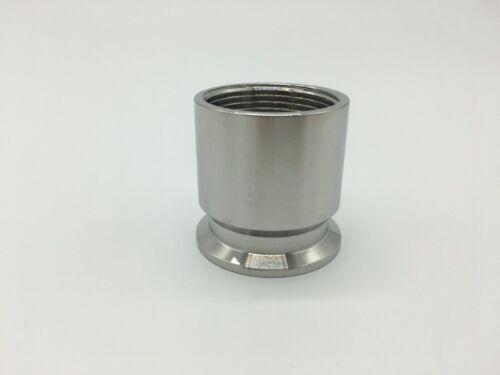 "1-1//4/"" X 1.5/"" BSP Hembra TRI CLAMP 50.5mm Virola O//D 304 Acero Inoxidable"