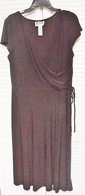 "Maternity Good Women's Dress By ""k.s.l.,"" Size 14 Dark Brown"