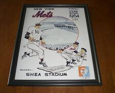 1964 NEW YORK METS SHEA STADIUM FRAMED YEARBOOK PRINT