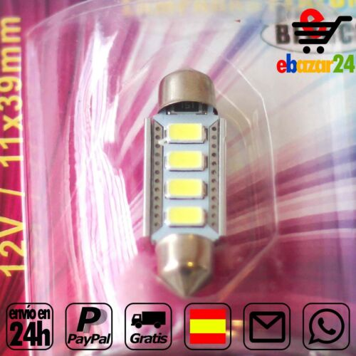 11x39mm LED 5730 Coche Interior Plafon luz Bombillas Decoración 12V *Envío GRATI